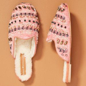 Llani Embellished Velvet Slippers *NEW*